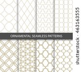 ornamental grid patterns in... | Shutterstock .eps vector #463163555