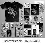 abstract business set with... | Shutterstock .eps vector #463166081
