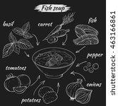 vector set of sketches of... | Shutterstock .eps vector #463166861