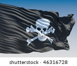 pirate flag flying on clear sky ... | Shutterstock . vector #46316728