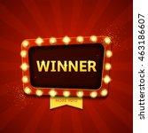 winner retro banner with... | Shutterstock .eps vector #463186607