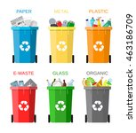 waste management concept. waste ... | Shutterstock .eps vector #463186709