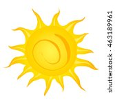 cartoon sun on white background. | Shutterstock . vector #463189961