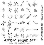 vector hand drawn arrows set   Shutterstock .eps vector #463192124