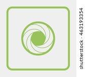 illustration of camera shutter. | Shutterstock . vector #463193354
