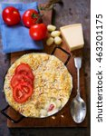 Small photo of Cheese macaroni bake with tomatoes