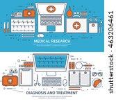 medical flat vector background... | Shutterstock .eps vector #463206461