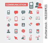 communication icons | Shutterstock .eps vector #463208921
