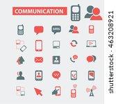 communication icons | Shutterstock .eps vector #463208921