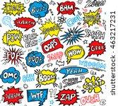 hand drawn comic speech bubble...   Shutterstock .eps vector #463217231
