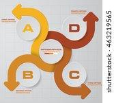 abstract 4 steps presentation... | Shutterstock .eps vector #463219565