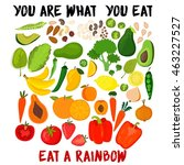 you are what you eat eat a... | Shutterstock .eps vector #463227527