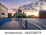 blue bridge leading to st.... | Shutterstock . vector #463228079