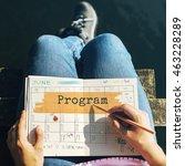 Small photo of Program Agenda Planner Reminder Calendar To Do Concept