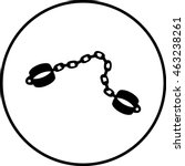 shackles symbol   Shutterstock .eps vector #463238261