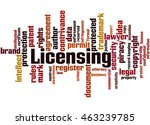 licensing  word cloud concept...