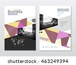 business brochure design.... | Shutterstock .eps vector #463249394