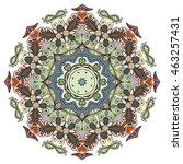mandala flower decoration ... | Shutterstock .eps vector #463257431
