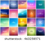 big set of 20 square blurred... | Shutterstock .eps vector #463258571