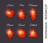 colorful shiny gemstones... | Shutterstock .eps vector #463266119
