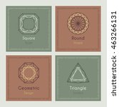 trendy cards with geometric...   Shutterstock .eps vector #463266131