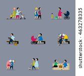 rest in the park. infographic... | Shutterstock .eps vector #463278335