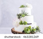 elegant wedding cake with... | Shutterstock . vector #463281269