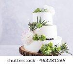 Elegant Wedding Cake With...