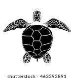 black vector sea turtle