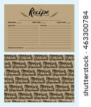 recipe card template with back... | Shutterstock .eps vector #463300784
