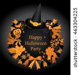 happy halloween set.halloween...   Shutterstock .eps vector #463304225