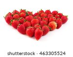group of ripe strawberries are... | Shutterstock . vector #463305524
