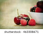 summer berries | Shutterstock . vector #463308671