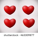 red  love heart | Shutterstock . vector #463309877