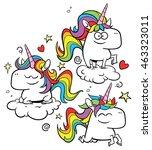 Rainbow Unicorns   A Set Of...