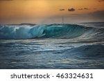 big ocean crashing wave in the... | Shutterstock . vector #463324631