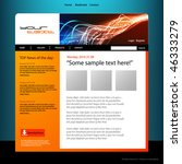 web site design template ... | Shutterstock .eps vector #46333279