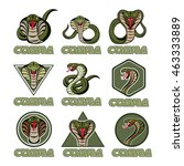 cobra logos | Shutterstock .eps vector #463333889