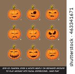 vector icons of jack o lantern... | Shutterstock .eps vector #463341671
