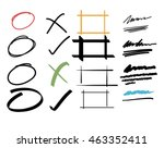 vector of marker elements... | Shutterstock .eps vector #463352411