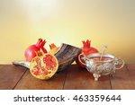 rosh hashanah  jewish new year... | Shutterstock . vector #463359644