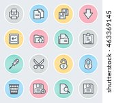 document flat contour icons on... | Shutterstock .eps vector #463369145