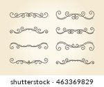 set of hand drawn vignettes... | Shutterstock .eps vector #463369829