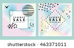 summer sale banners. square.... | Shutterstock .eps vector #463371011