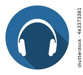 headphone icon  vector  icon... | Shutterstock .eps vector #463373381