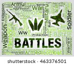battles words indicating... | Shutterstock . vector #463376501