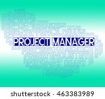project manager representing...   Shutterstock . vector #463383989