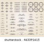 vintage set exclusive borders... | Shutterstock .eps vector #463391615