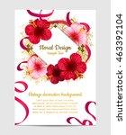 vector hibiscus flower.... | Shutterstock .eps vector #463392104