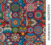 seamless tile pattern moroccan... | Shutterstock .eps vector #463395554
